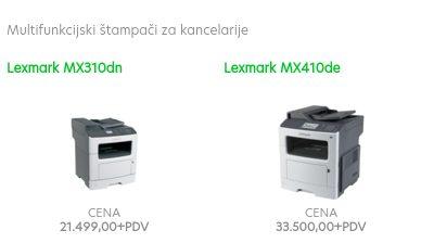Lexmark štampači