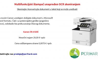 Multifunkcijski štampač unapređen OCR skeniranjem